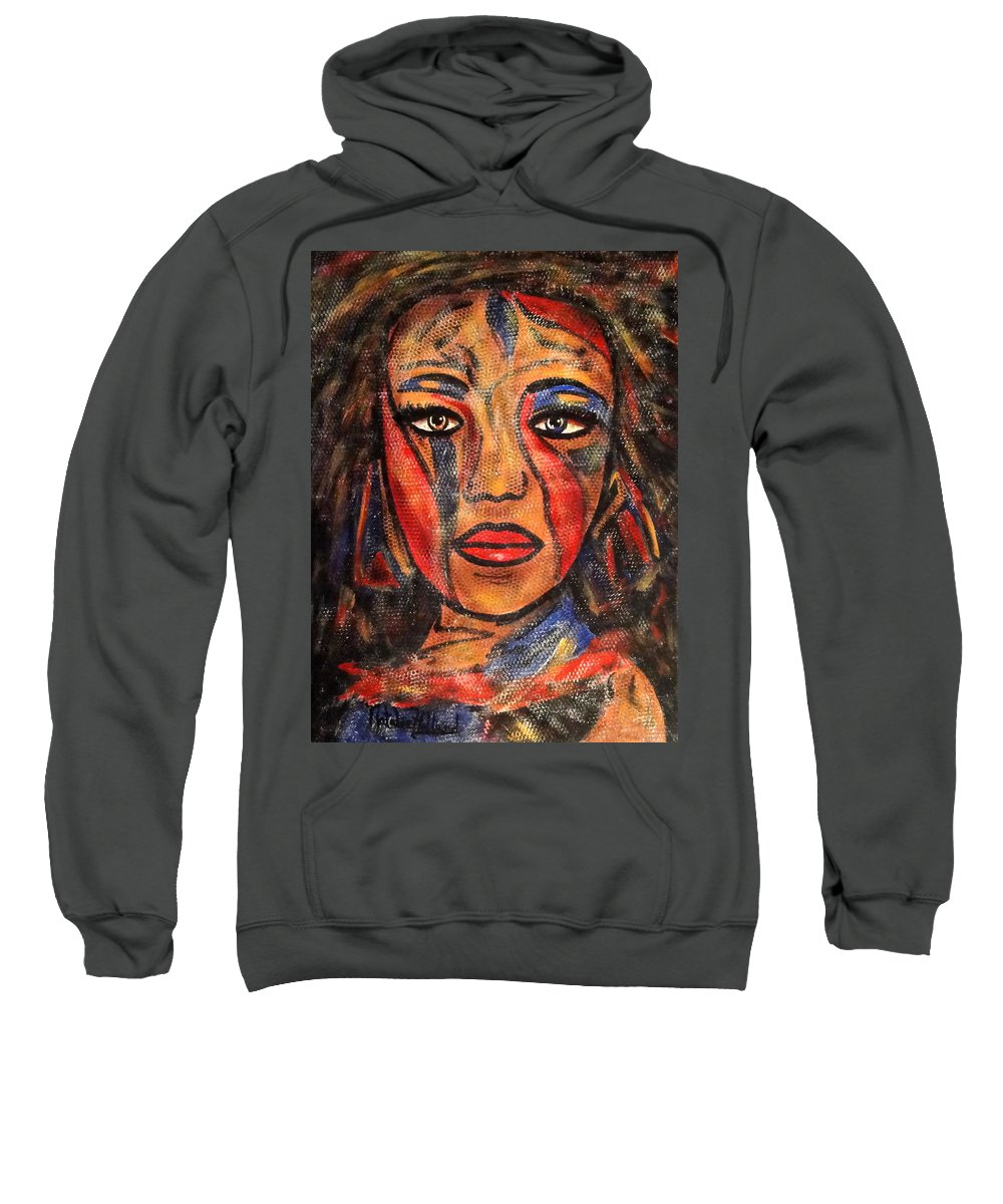 Woman Sweatshirt featuring the painting Bonita by Natalie Holland