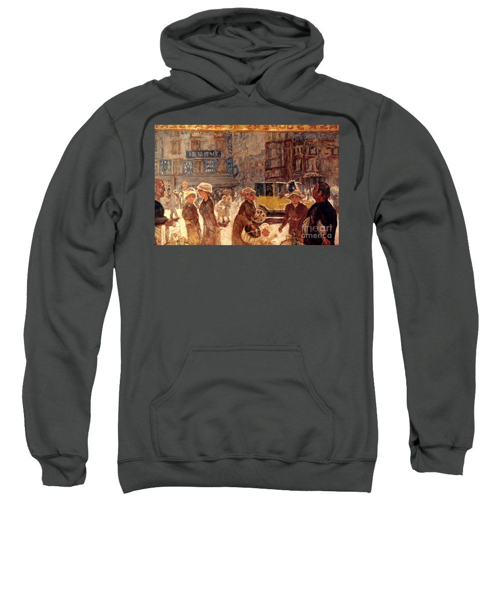 1912 Sweatshirt featuring the photograph Bonnard: Place Clichy by Granger