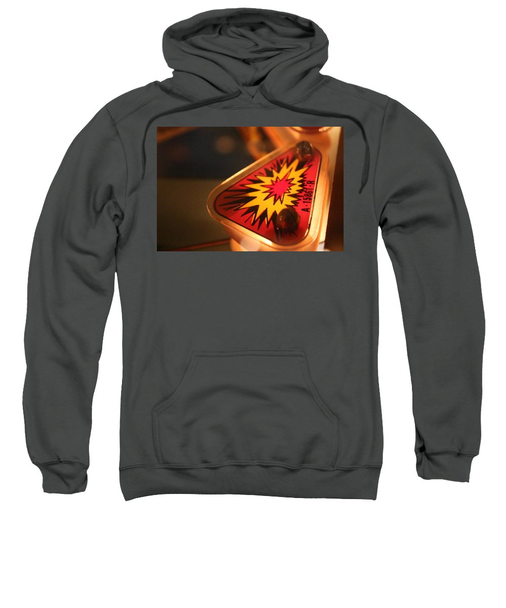 Pinball Sweatshirt featuring the photograph Boom by Kevin Cote