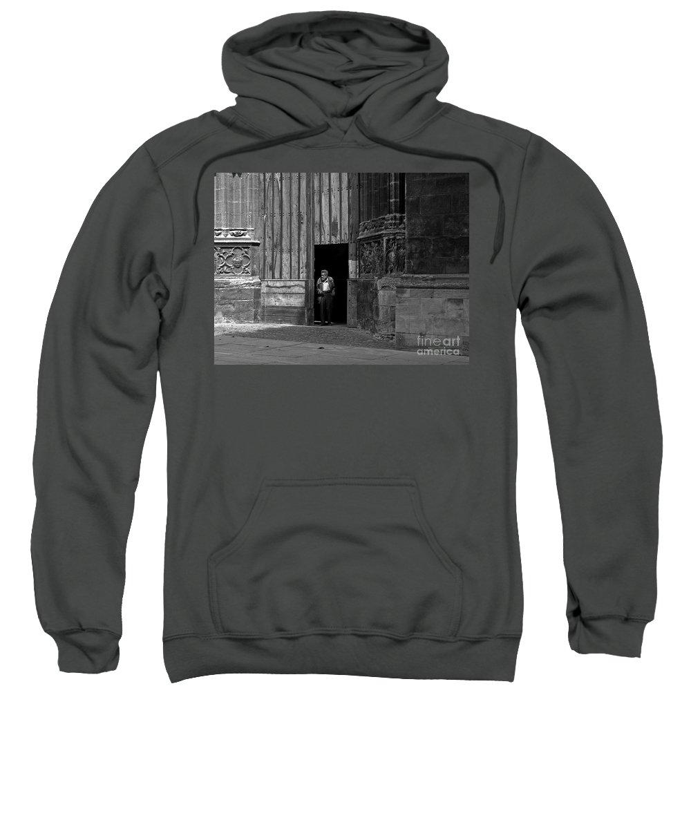 Bordeaux Sweatshirt featuring the photograph Bordeaux Church Door by Thomas Marchessault