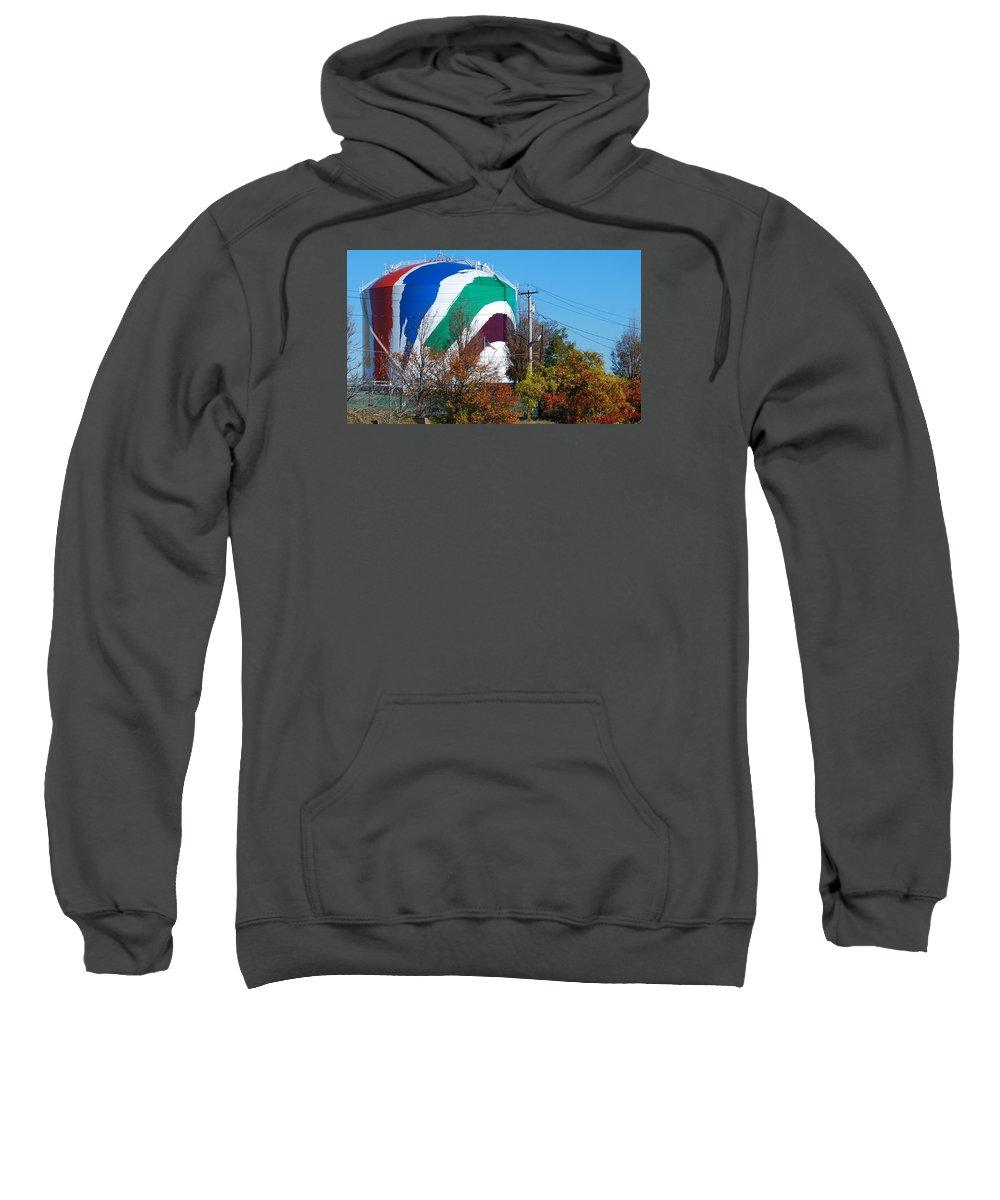 Boston Gas Tank Dorchester Mass Sweatshirt featuring the photograph Boston Gas Tank by Bill Driscoll