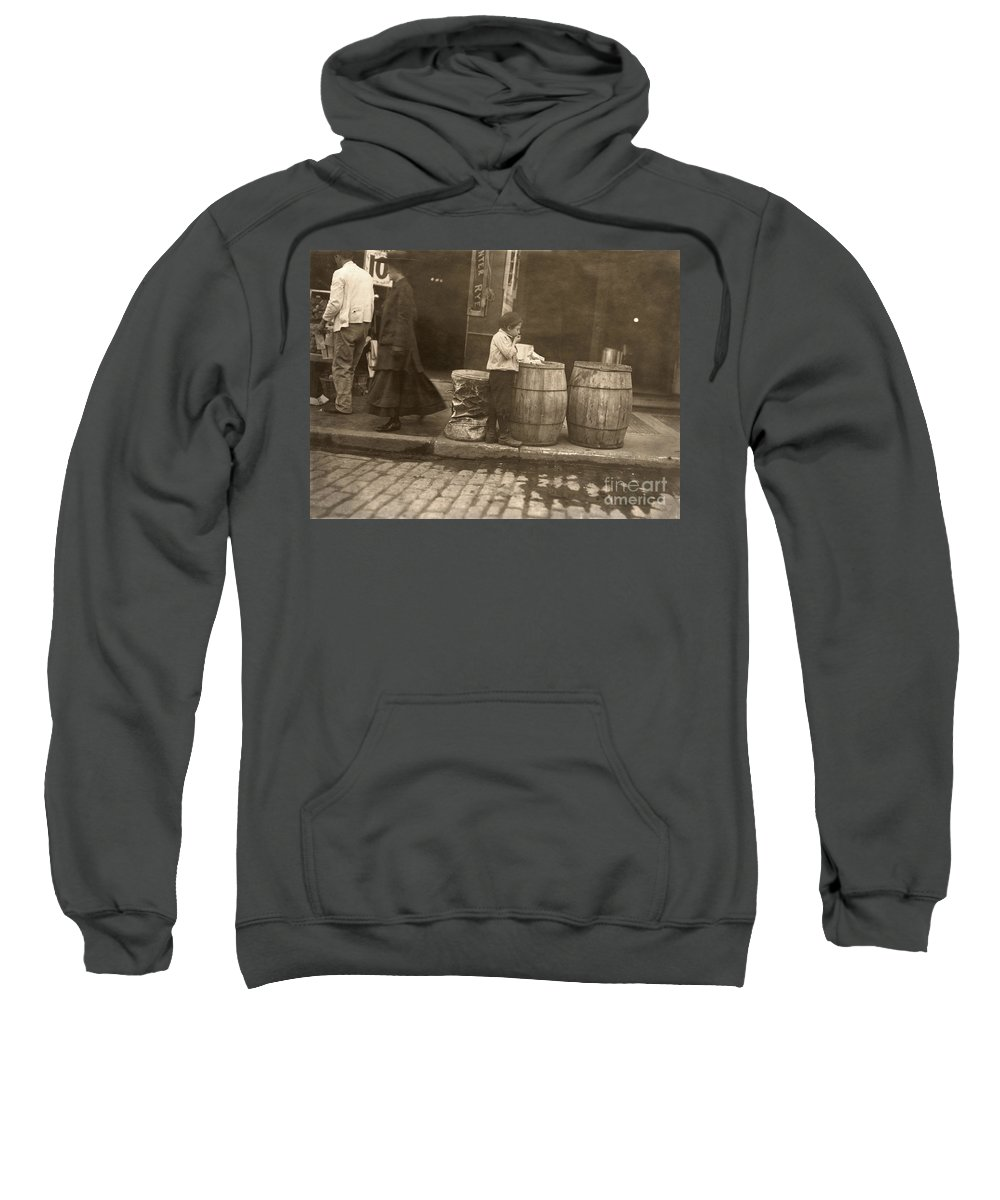 1909 Sweatshirt featuring the photograph Boston: Slums, 1909 by Granger