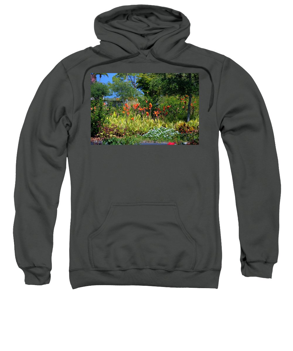 Flowers Sweatshirt featuring the photograph Botanical Garden by Jonathan Sabin