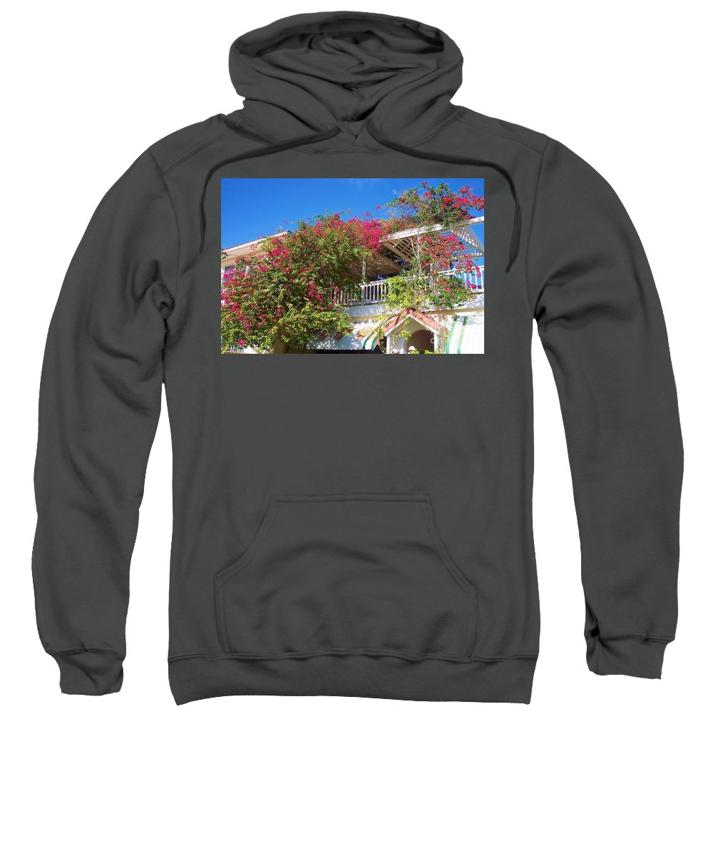 Flowers Sweatshirt featuring the photograph Bougainvillea Villa by Debbi Granruth