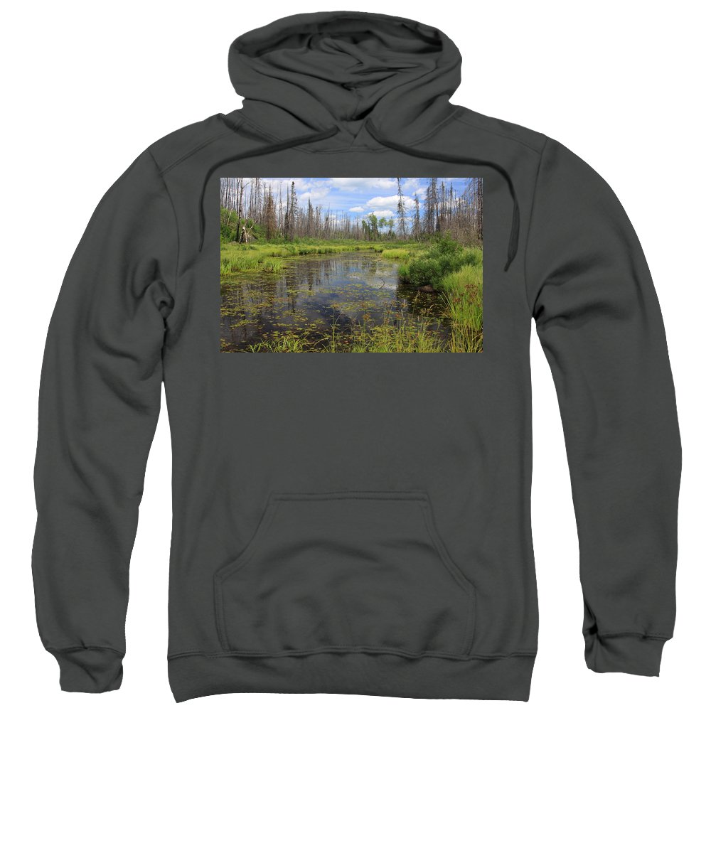 Boundary Waters Minnesota Lake Pond Swamp Nature Forest Park Lake Superior National Forest Sweatshirt featuring the photograph Boundary Waters Beauty by Shari Jardina
