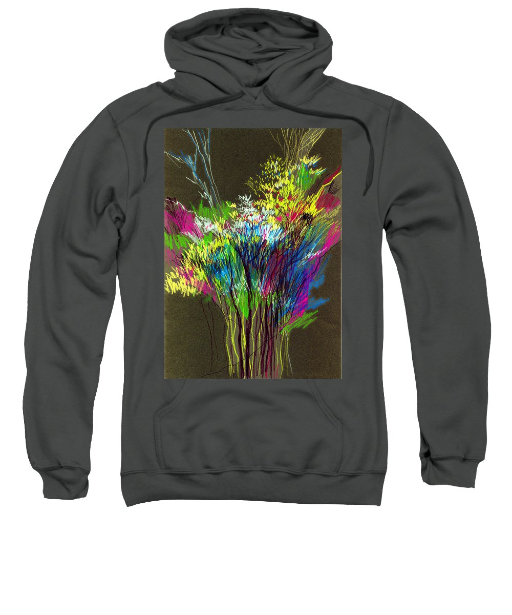 Flowers Sweatshirt featuring the painting Bouquet by Anil Nene