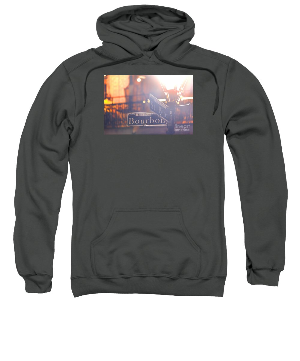 Bourbon Street Sweatshirt featuring the photograph Bourbon Street New Orleans La by Monika Wlodarska