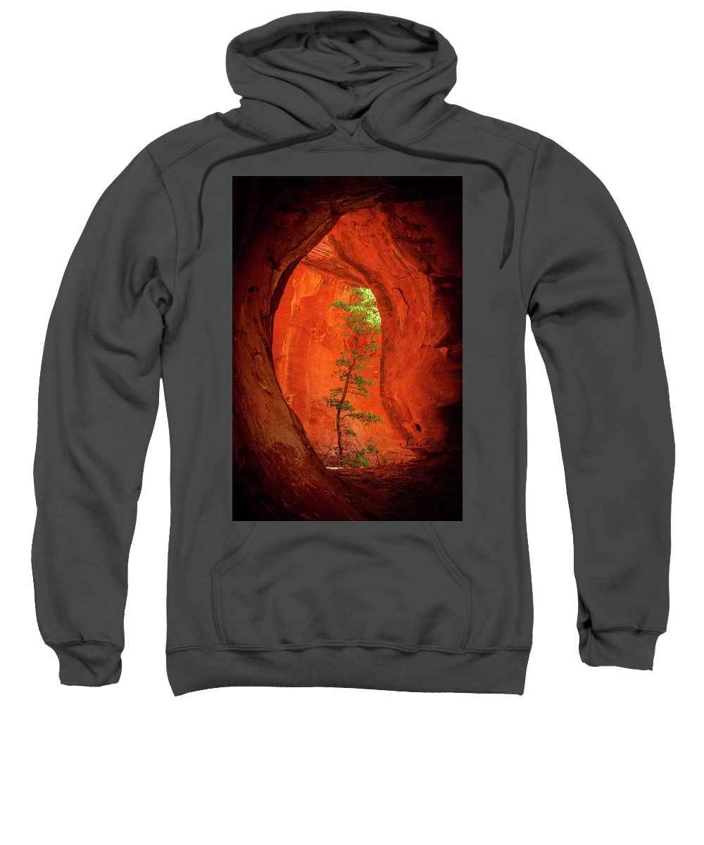 Sedona Sweatshirt featuring the photograph Boynton Canyon 04-343 by Scott McAllister