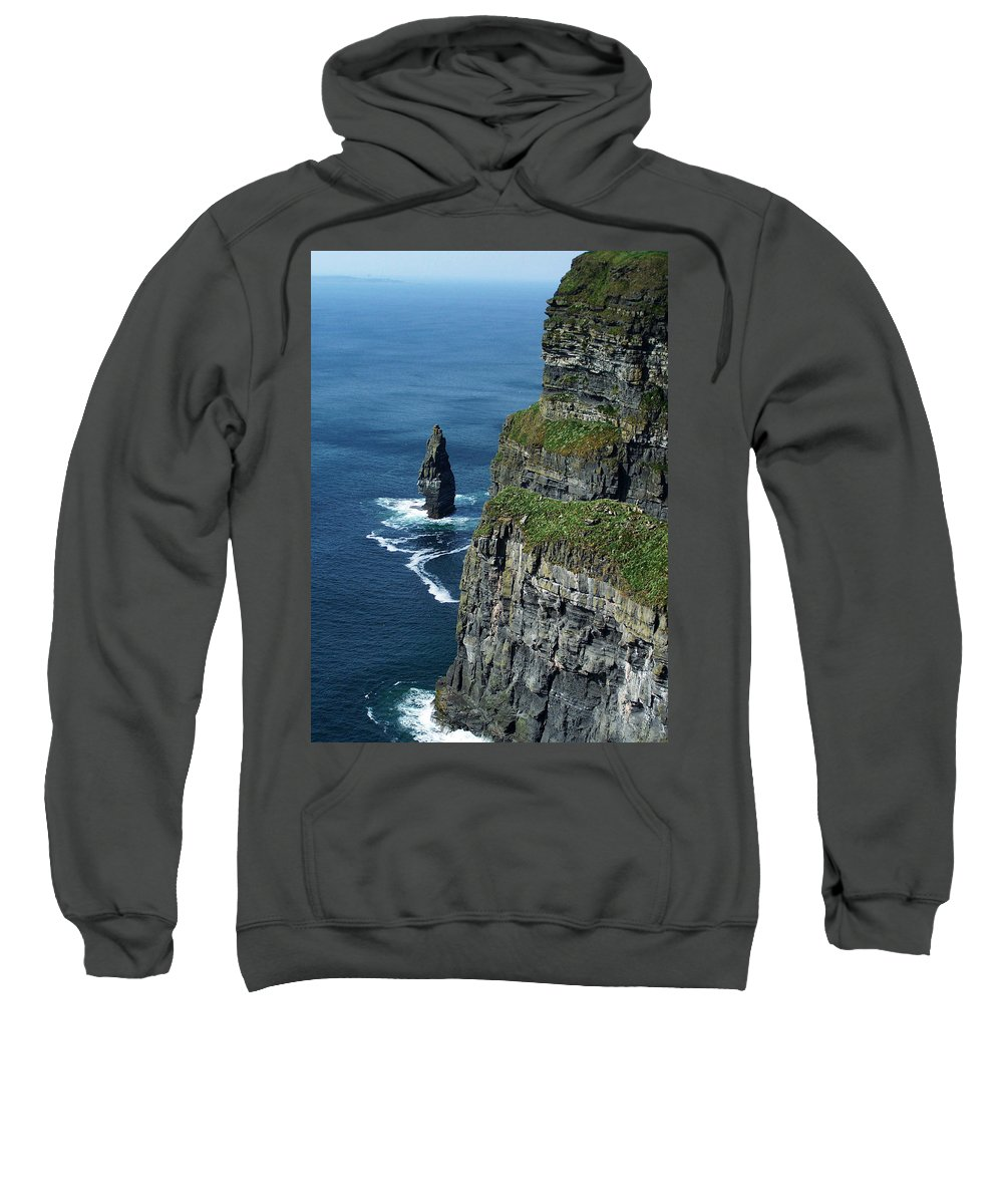 Irish Sweatshirt featuring the photograph Brananmore Cliffs Of Moher Ireland by Teresa Mucha