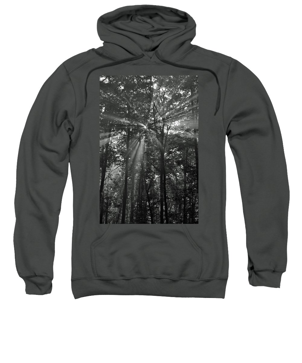 B&w Sweatshirt featuring the photograph Break Through by Michael Hills