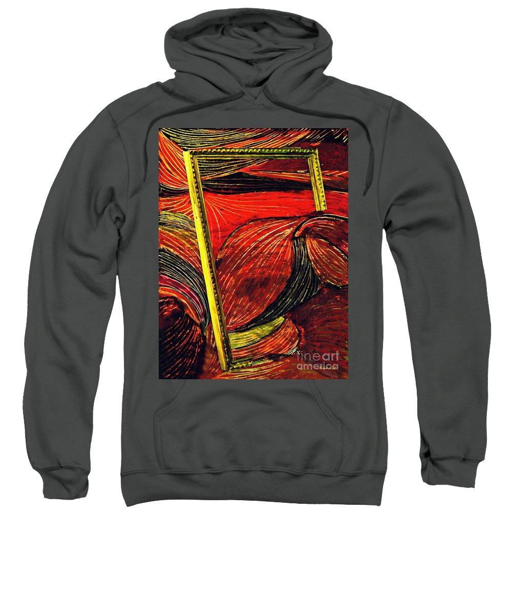 Wave Sweatshirt featuring the mixed media Breakthrough by Sarah Loft