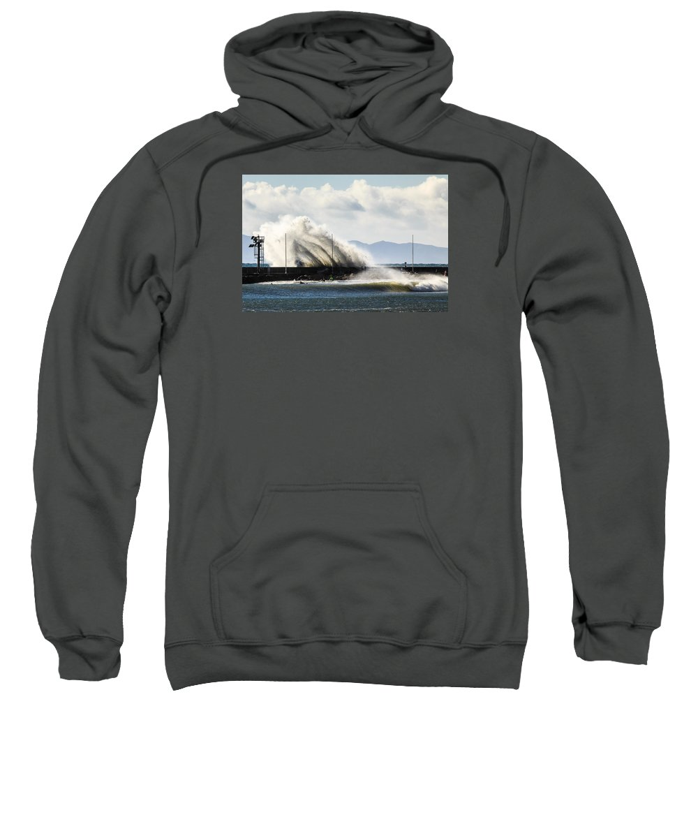 Jetty Sweatshirt featuring the photograph Breakwater by Zach Brown