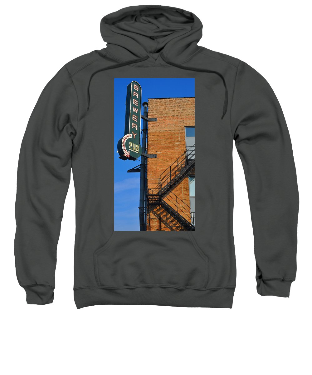 Chicago Sweatshirt featuring the photograph Brewery Pub by Tim Nyberg
