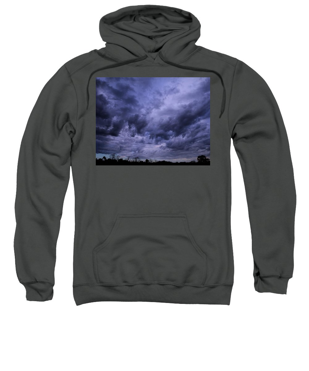 Storm Sweatshirt featuring the photograph Brewing Storm by Mark Blauhoefer