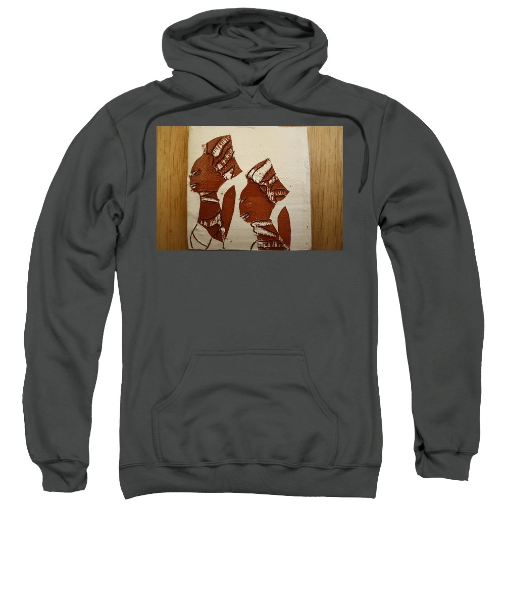 Jesus Sweatshirt featuring the ceramic art Brides Await - Tile by Gloria Ssali