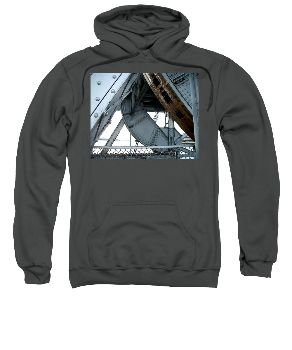 Steel Sweatshirt featuring the photograph Bridge Gears by Tim Nyberg