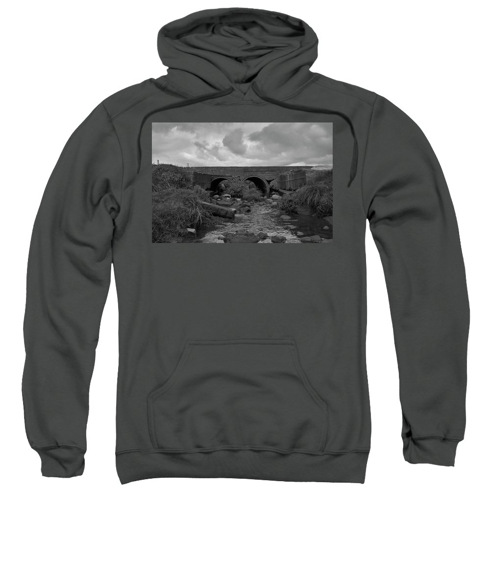 Black And White Sweatshirt featuring the photograph Bridge by Keith Elliott