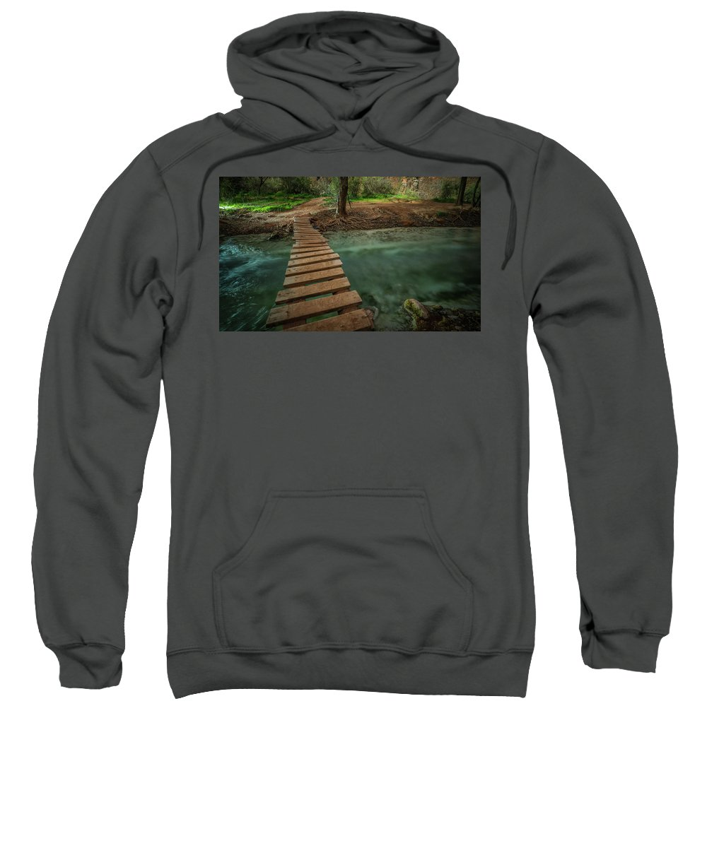 Havasu Falls Sweatshirt featuring the photograph Bridge To Paradise by Ryan Kelehar