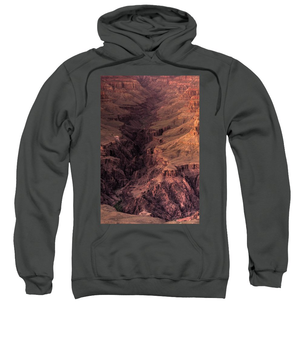 Arizona Sweatshirt featuring the photograph Bright Angel Canyon Grand Canyon National Park by Steve Gadomski