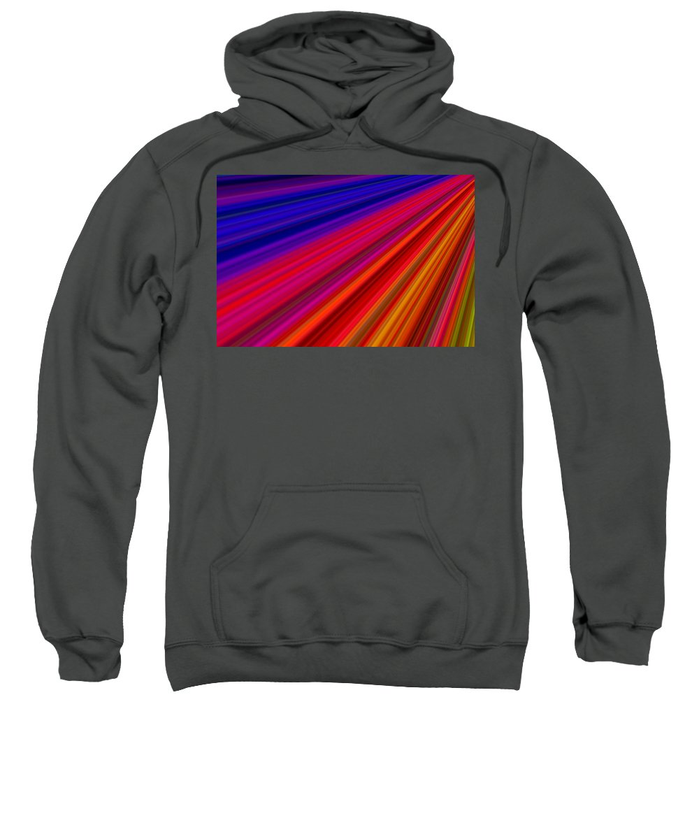 Abstract.digital Sweatshirt featuring the digital art Bright Colors by Aimee L Maher ALM GALLERY