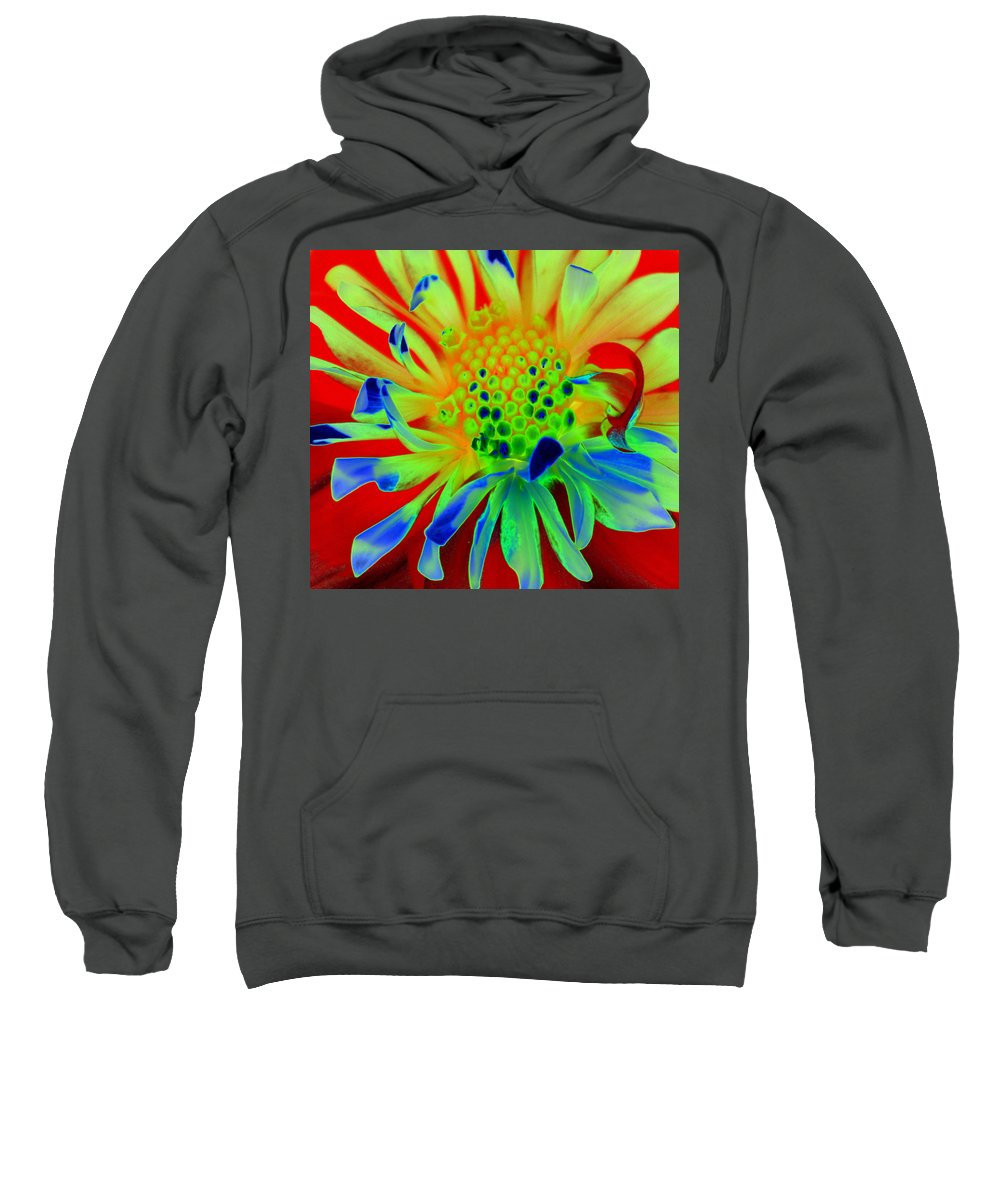 Diane Berry Sweatshirt featuring the painting Bright Flower by Diane E Berry