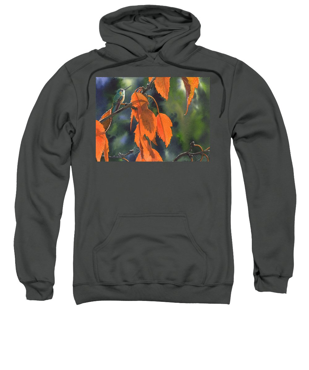 Leaves Sweatshirt featuring the painting Bright Orange Leaves by Catherine G McElroy