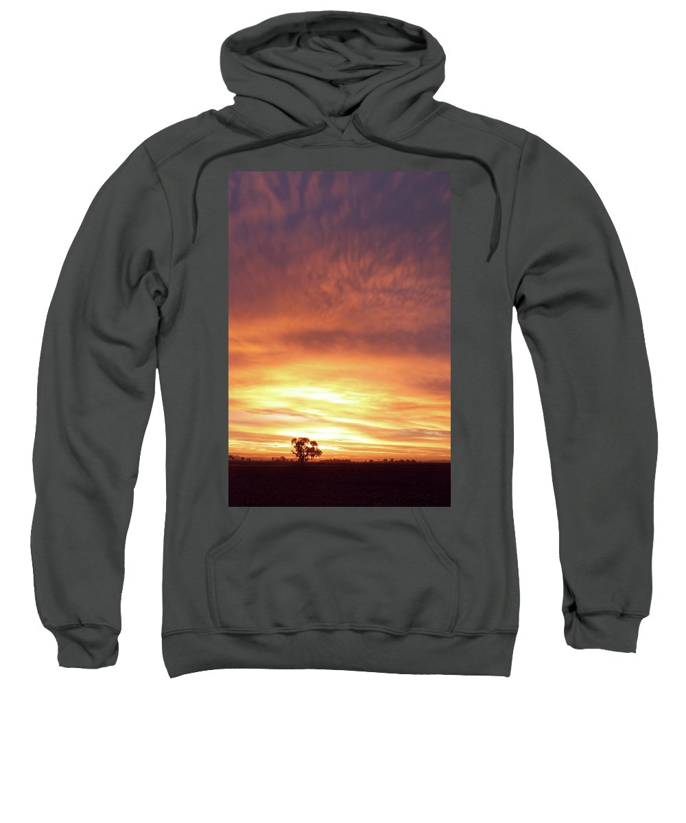 Landscape Sweatshirt featuring the photograph Bright Sunset by Scott Sawyer