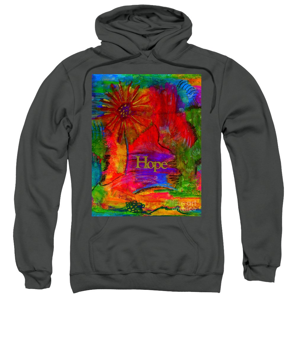 Mixed Media Sweatshirt featuring the painting Brighter Days Ahead by Angela L Walker