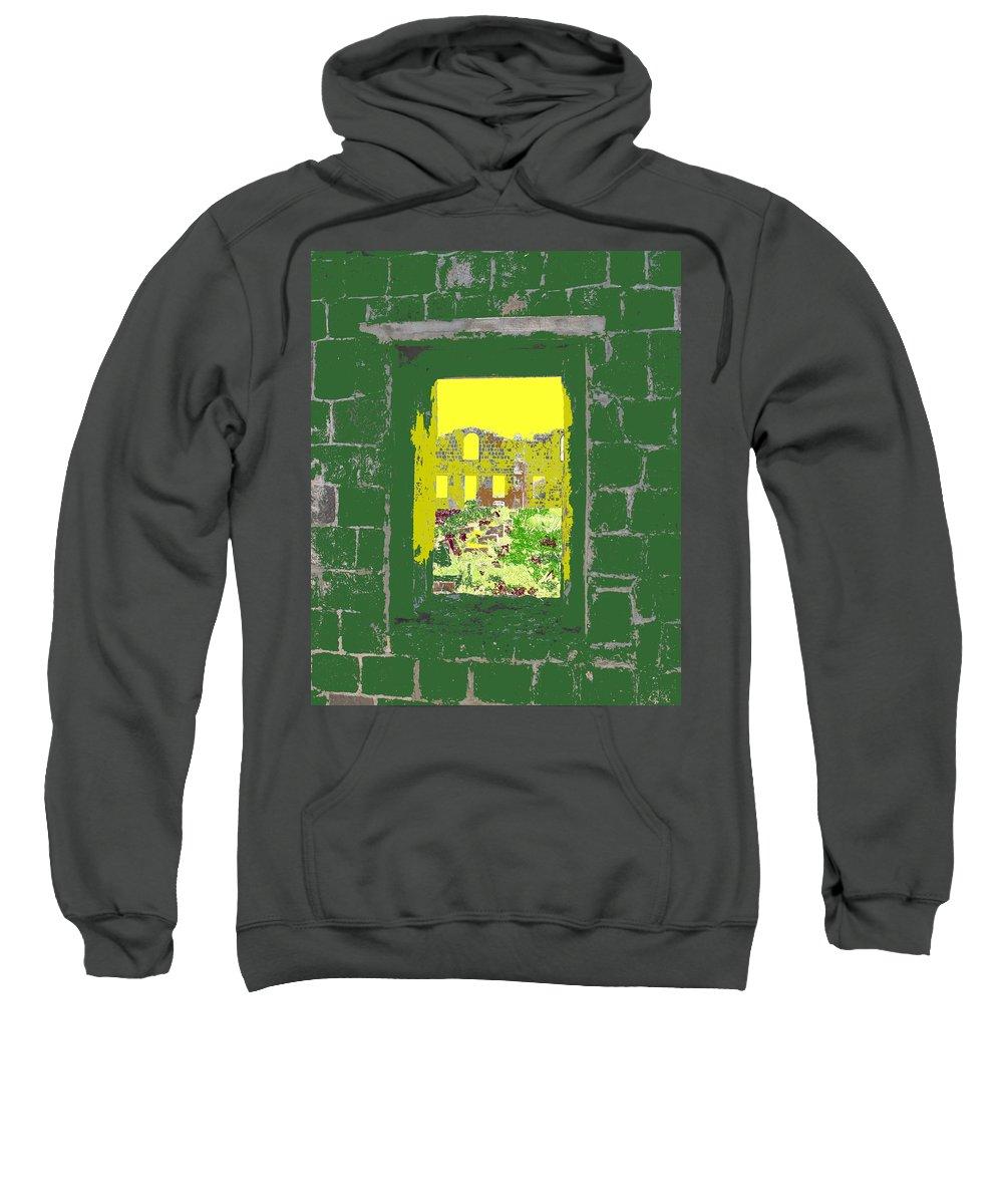 Brimstone Sweatshirt featuring the photograph Brimstone Window by Ian MacDonald