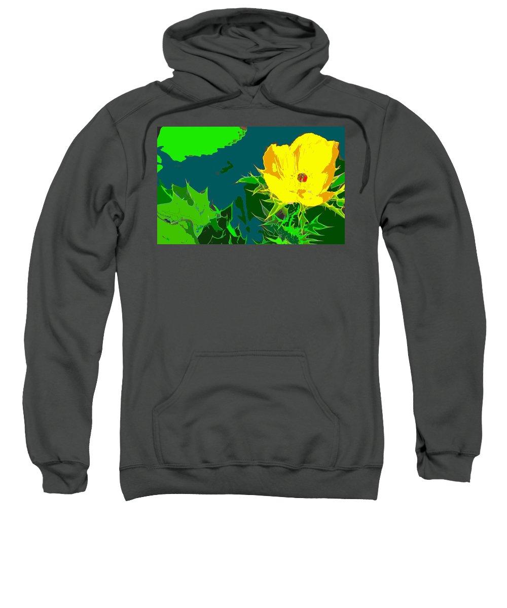 Sweatshirt featuring the photograph Brimstone Yellow by Ian MacDonald
