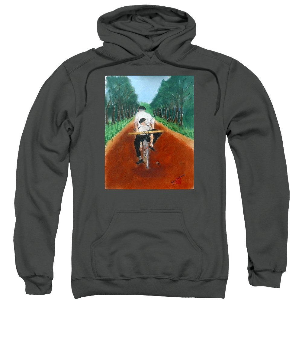 Mediterranean Sweatshirt featuring the painting Bringing Home The Daily Bread by Arlene Wright-Correll