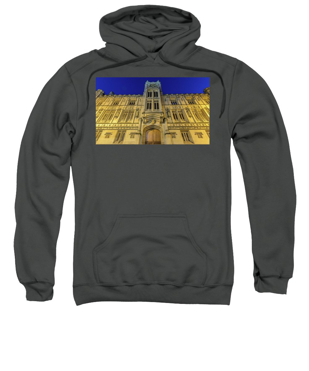 Architecture Sweatshirt featuring the photograph Bristol Guildhall By Night by Jacek Wojnarowski