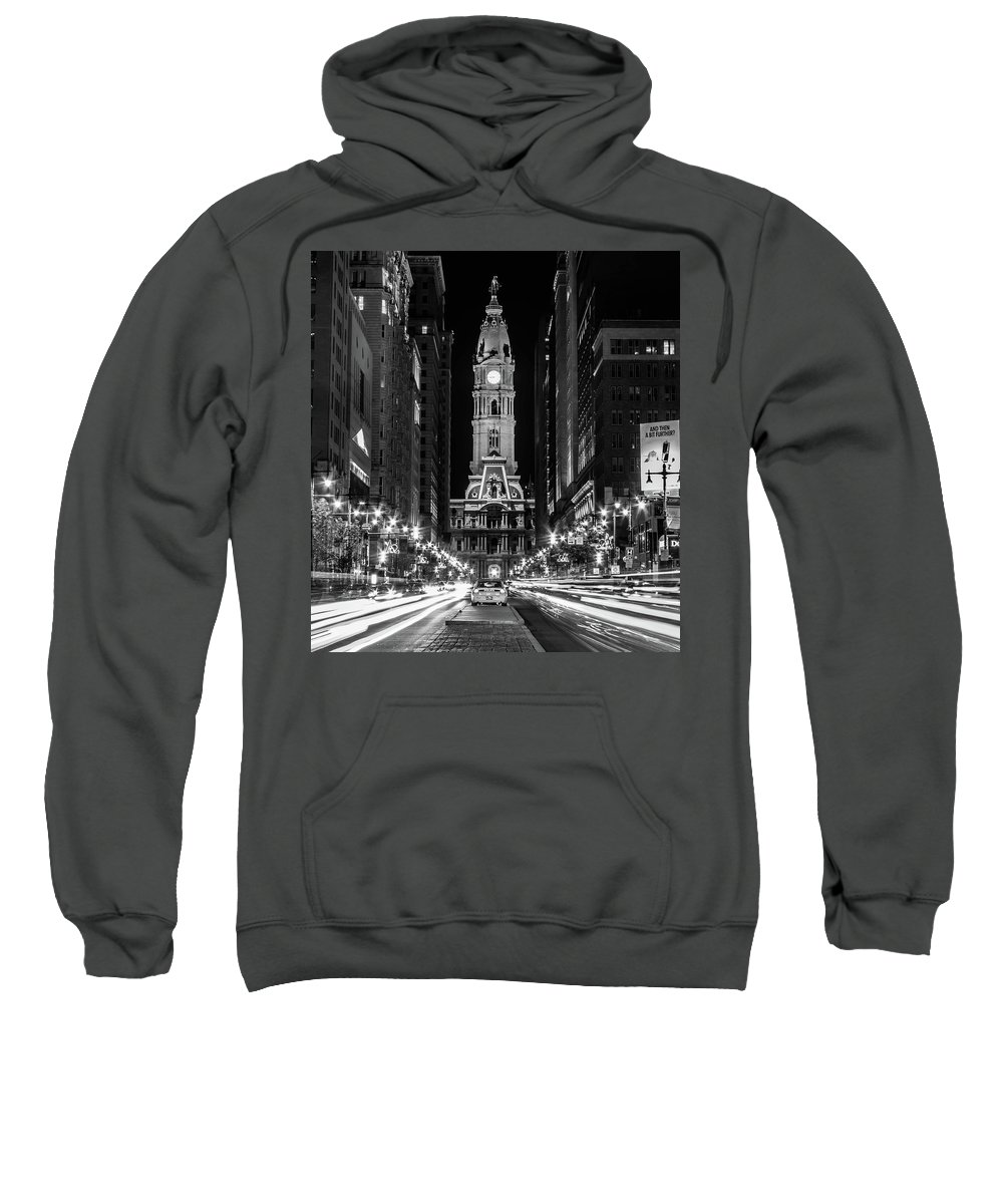 City Hall Sweatshirt featuring the photograph Broad St by Dave Miller