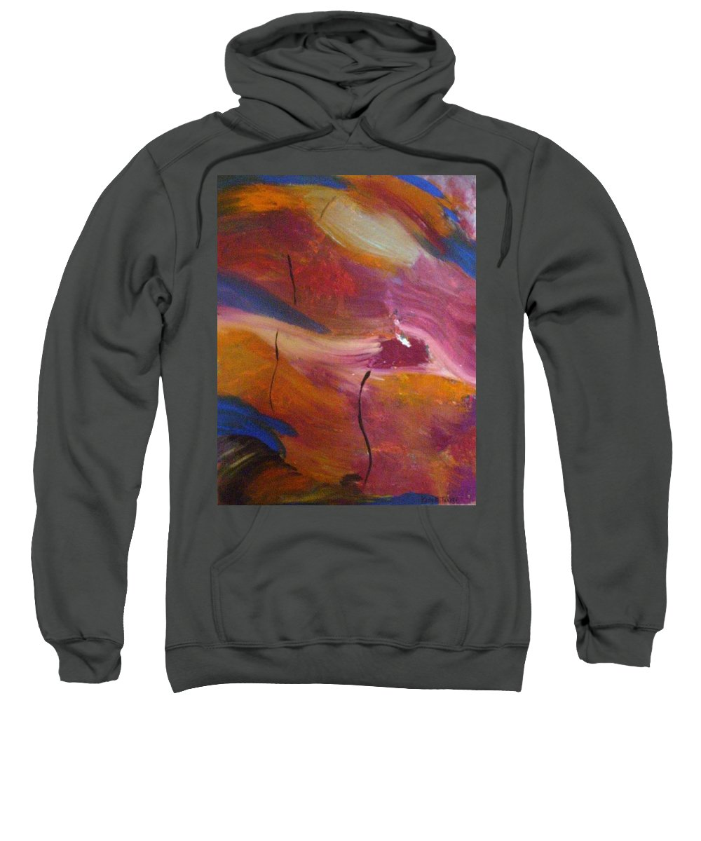Abstract Art Sweatshirt featuring the painting Broken Heart by Kelly Turner