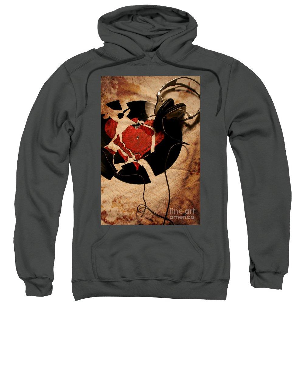 Music Sweatshirt featuring the photograph Broken Promises by Jason Williams