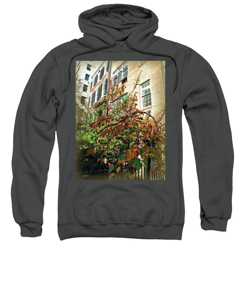 Leaves Sweatshirt featuring the photograph Brooklyn In November by Joan Minchak