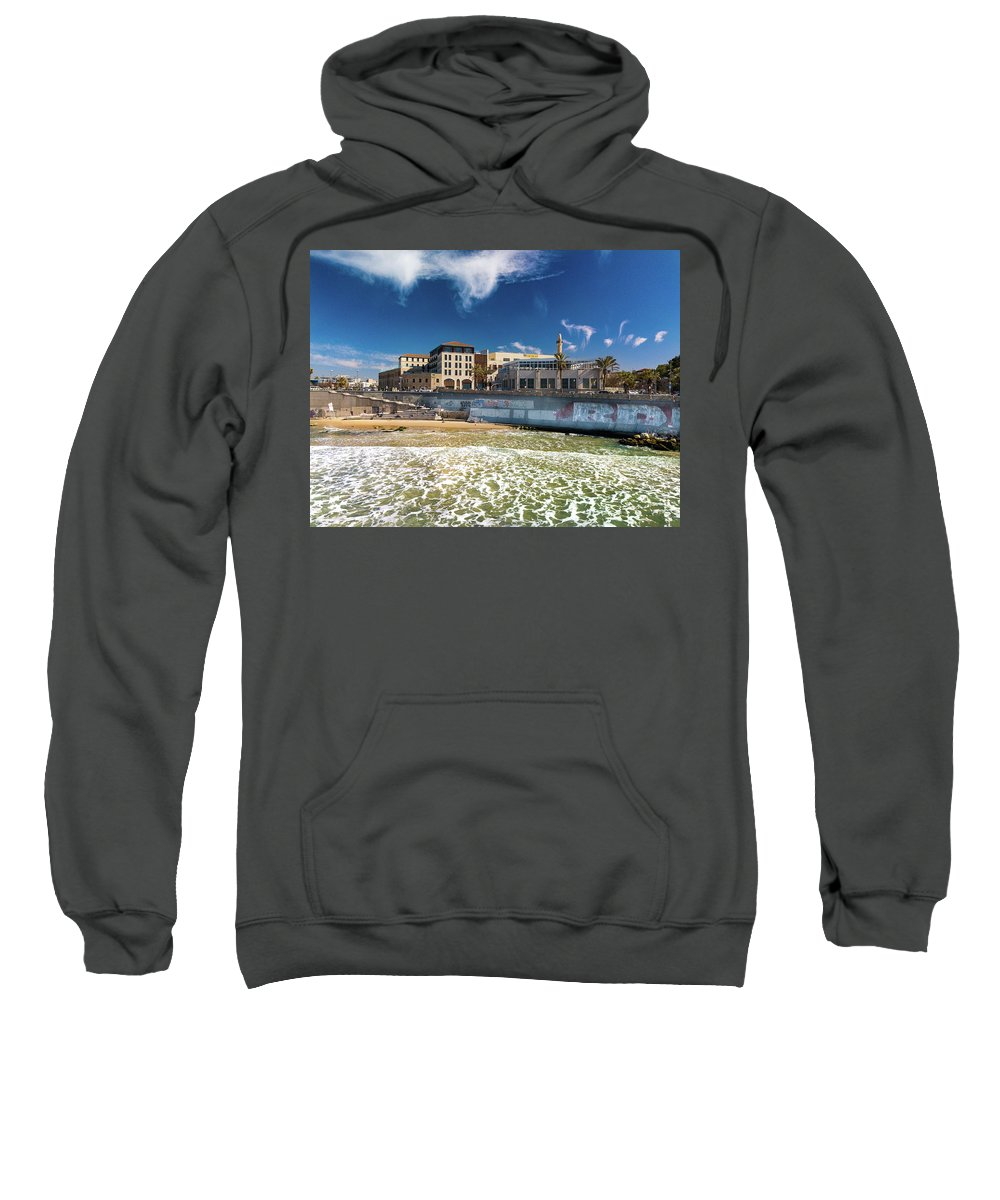 Israel Sweatshirt featuring the photograph Brothel Graffiti by Josh Parrish