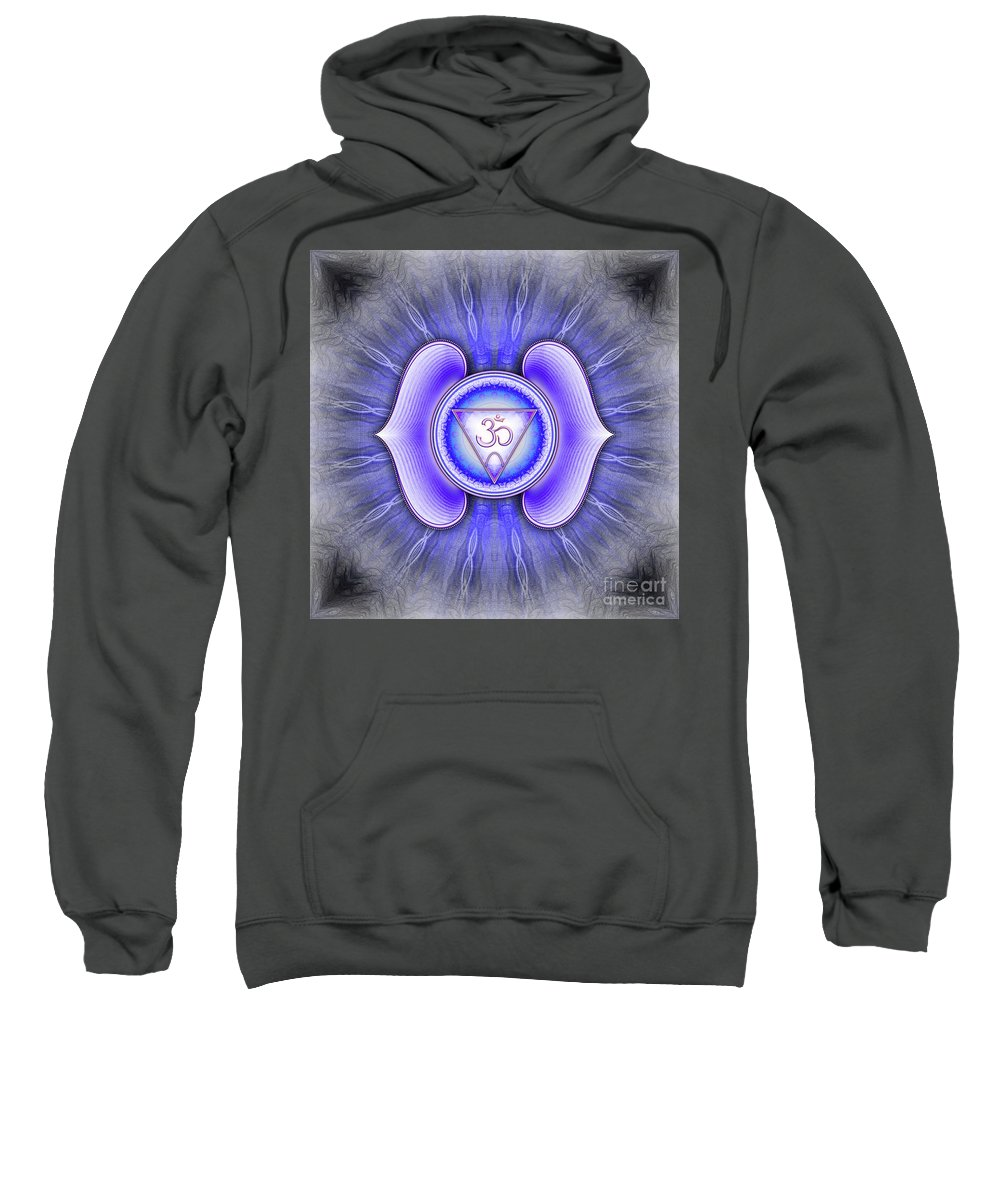 Chakra Sweatshirt featuring the digital art Brow Chakra - Series 4 by Dirk Czarnota