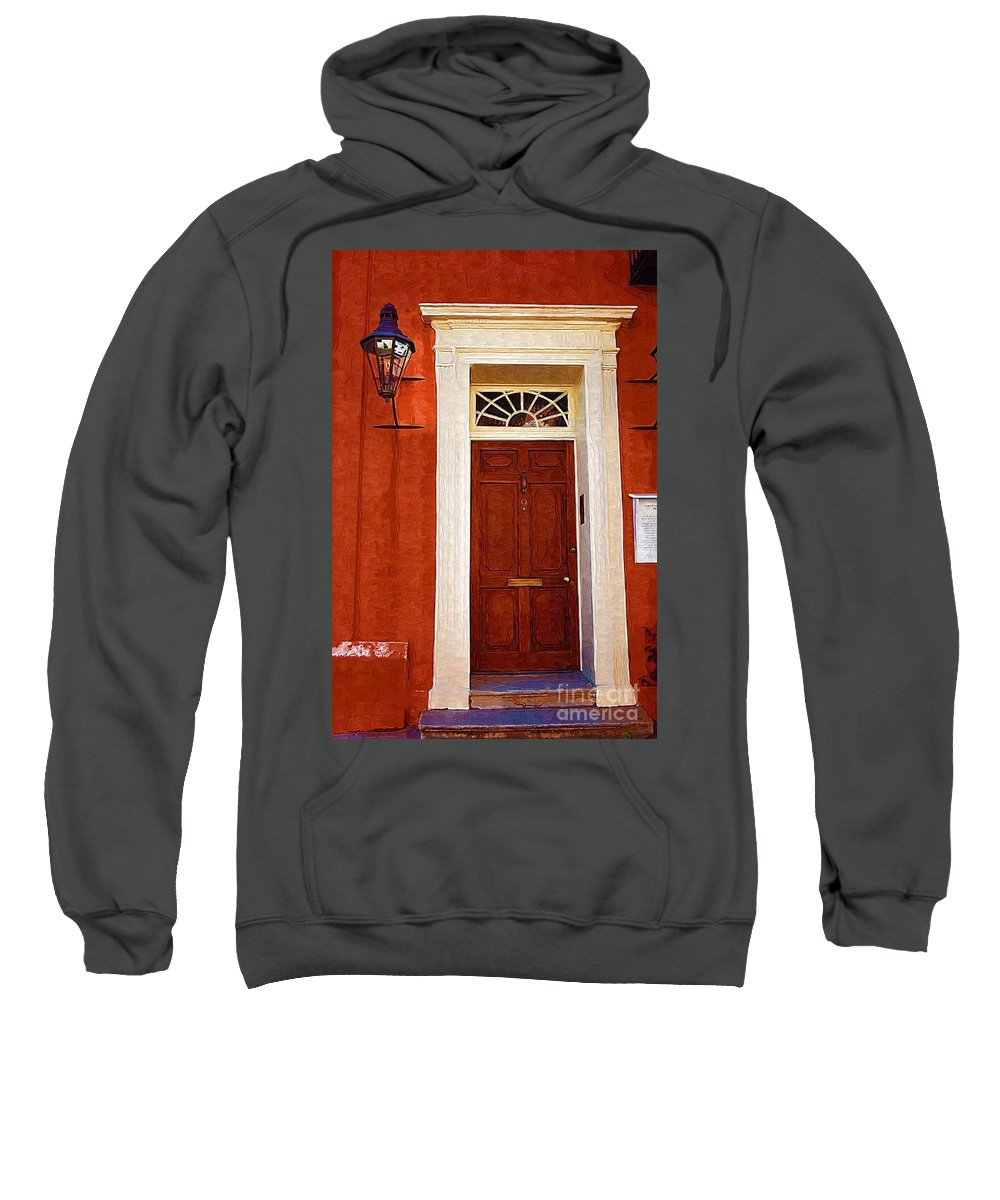 Door Sweatshirt featuring the photograph Brown Door by Donna Bentley