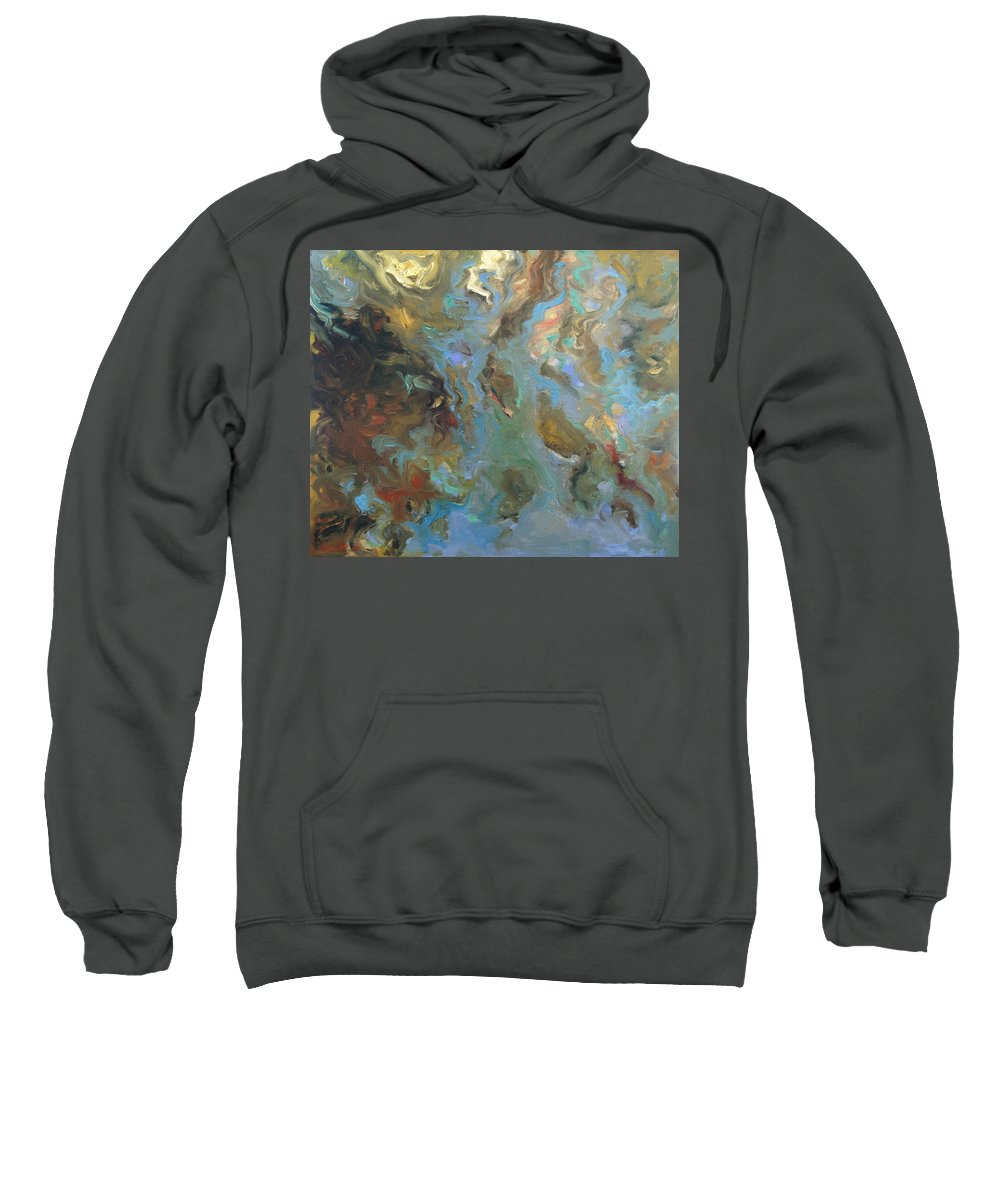 Water Sweatshirt featuring the painting Brown by Rick Nederlof