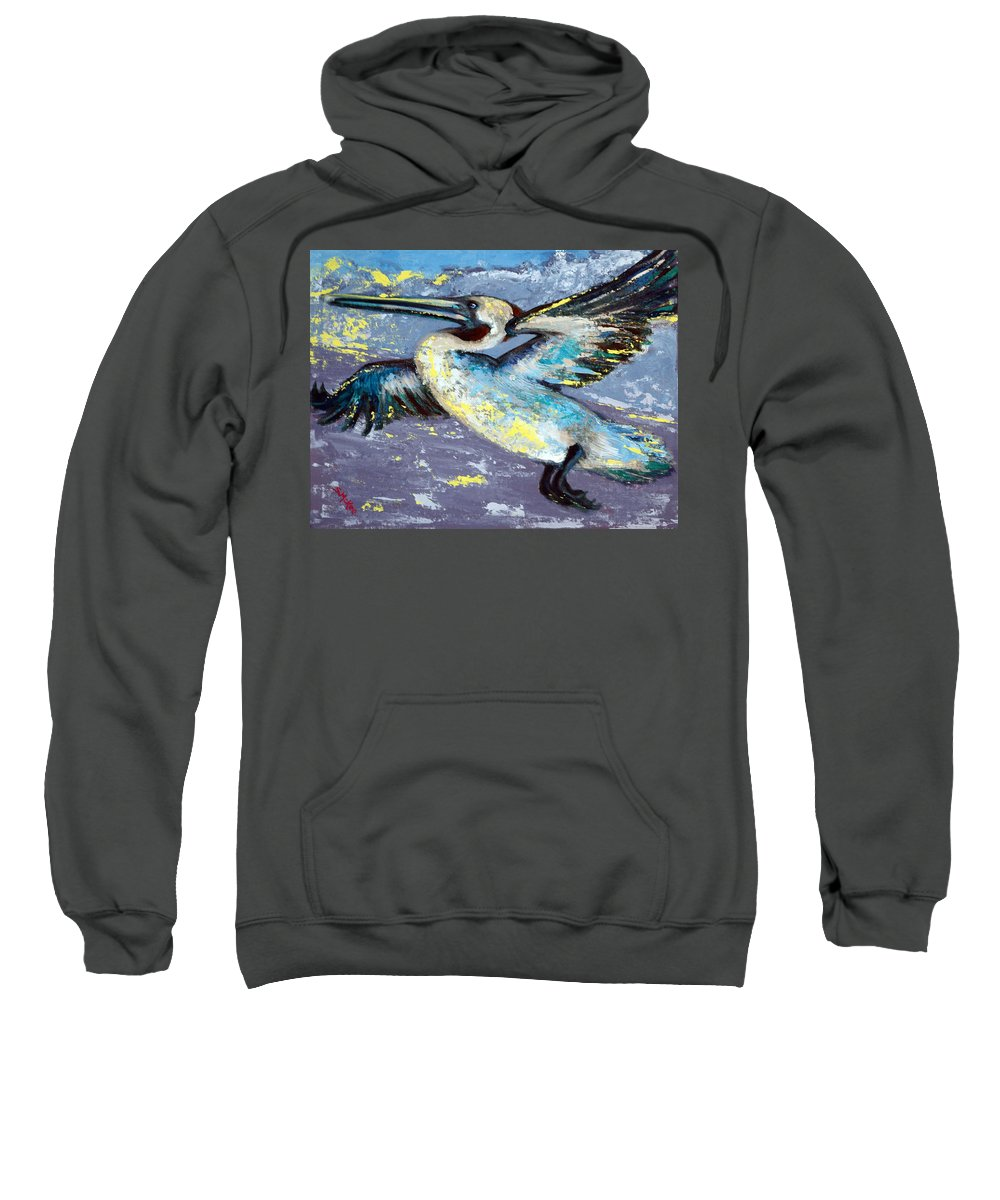 Acrylic Sweatshirt featuring the painting Brownie Into The Sunset by Suzanne McKee
