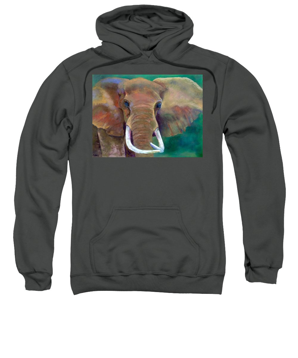 Sweatshirt featuring the pastel Bruno by Barbara Amos