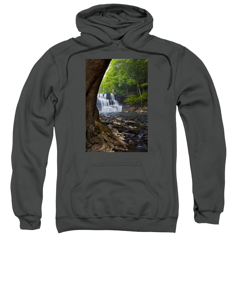 Waterfall Sweatshirt featuring the photograph Brush Creek Falls II by Amy Jackson