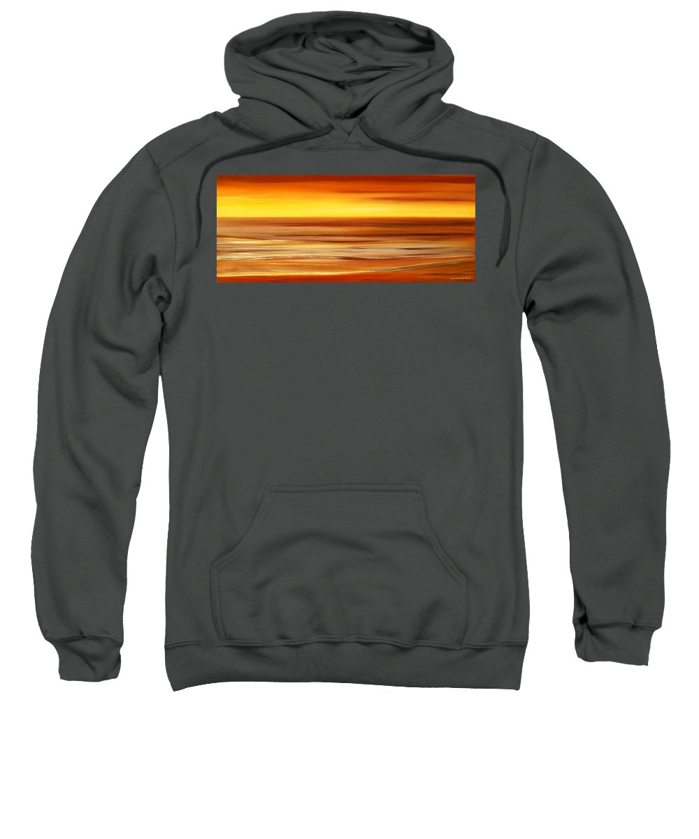 Sunset Paintings Sweatshirt featuring the painting Brushed 3 by Gina De Gorna