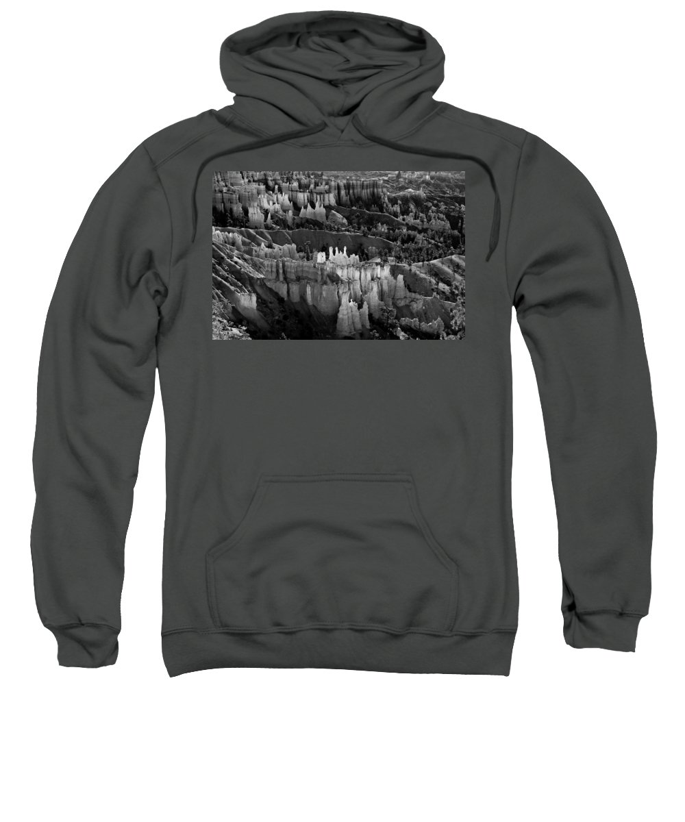 Bryce Canyon Sweatshirt featuring the photograph Bryce Canyon In Black And White by James BO Insogna
