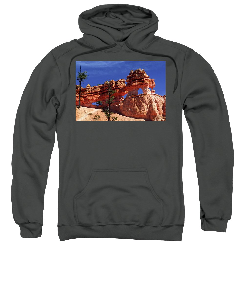 Red Rock Formations Sweatshirt featuring the photograph Bryce Canyon National Park by Sally Weigand