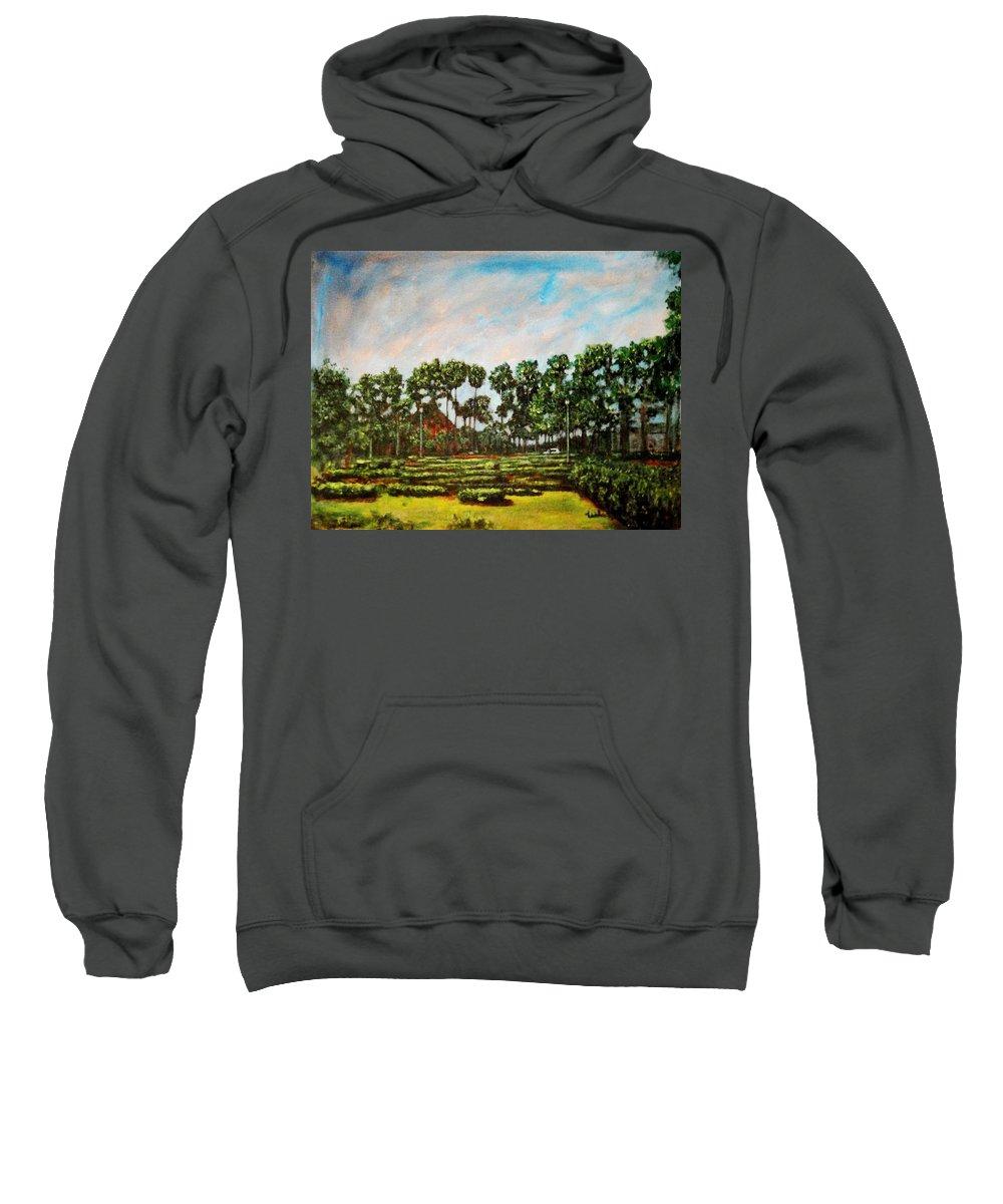 Landscape Sweatshirt featuring the painting Btm Park by Usha Shantharam