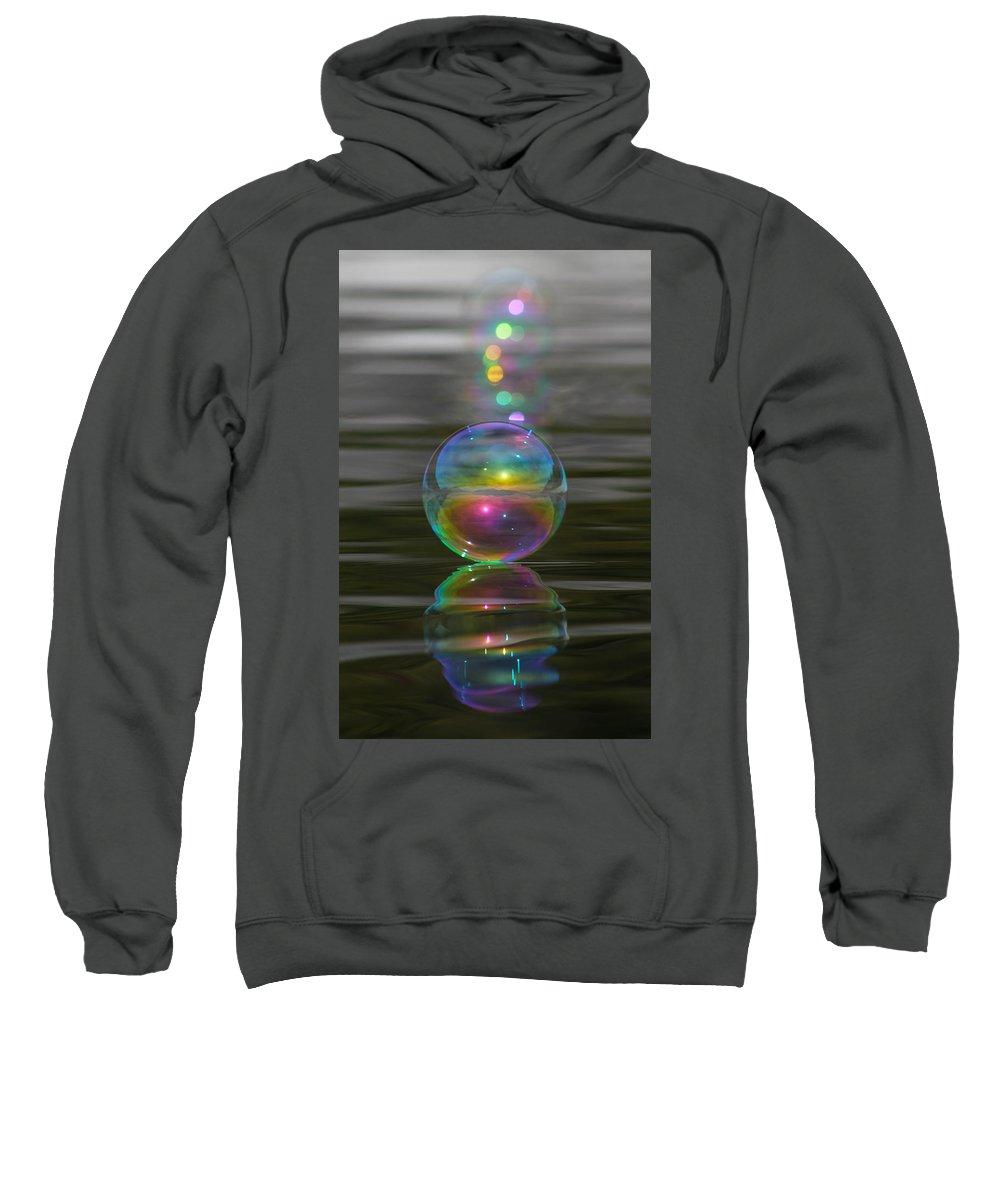 Bubble Sweatshirt featuring the photograph Bubble Shazam by Cathie Douglas