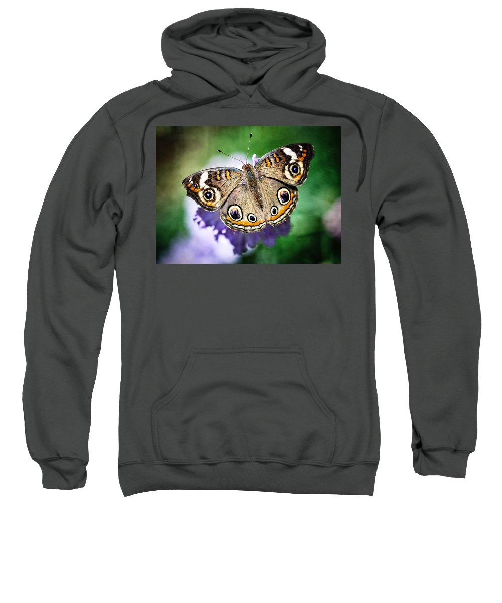 Arizona Sweatshirt featuring the photograph Buckeye Butterfly by Saija Lehtonen