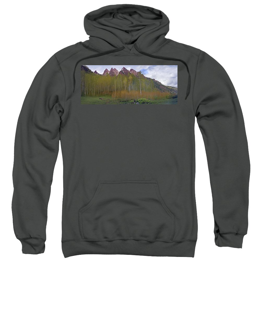 Mountain Sweatshirt featuring the photograph Buckskin Mtn And Friends by Heather Coen